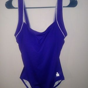 Ironman Women's Swimsuit One-Piece Blue/White